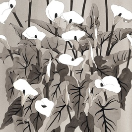 Wendy Sysouphat, Arum Lilies III 2015, ink